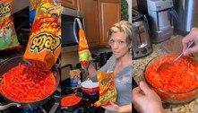 A web chegou ao limite com essa receita de macarrão com Cheetos