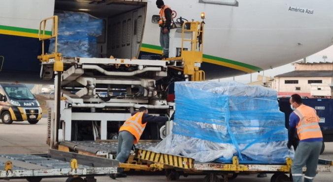 Lotes chegaram ao aeroporto de Viracopos entre os dias 25 e 26 de junho