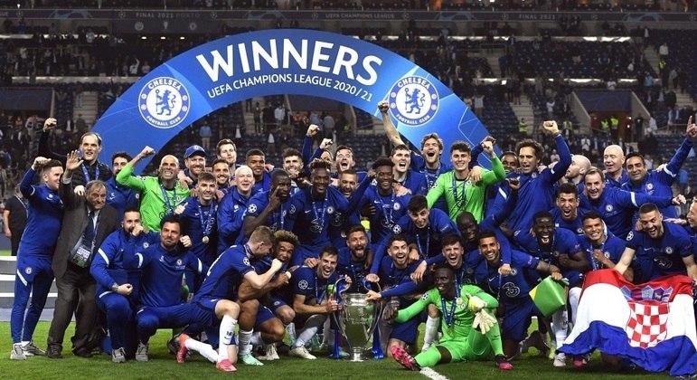 A festa pelo troféu do Chelsea