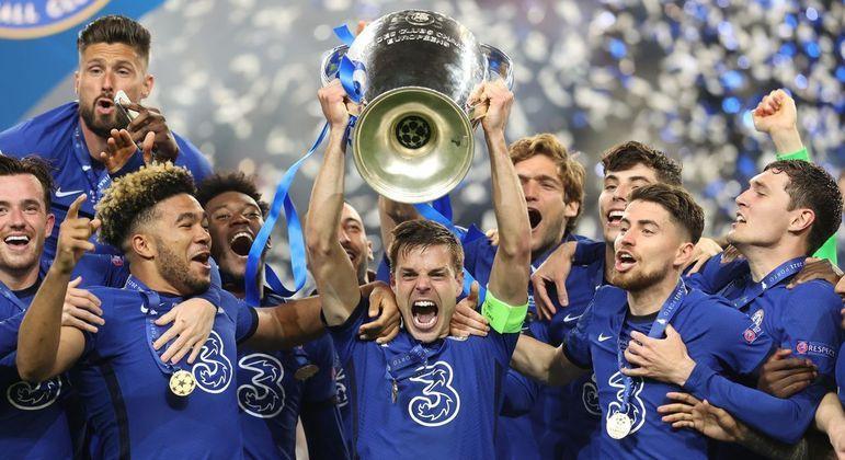 A festa do Chelsea campeão de 2020/2021