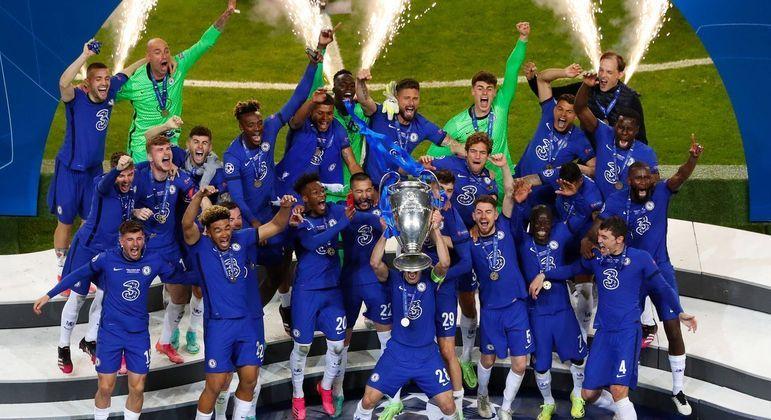 """O Chelsea, recém-ganhador da """"Champions"""""""