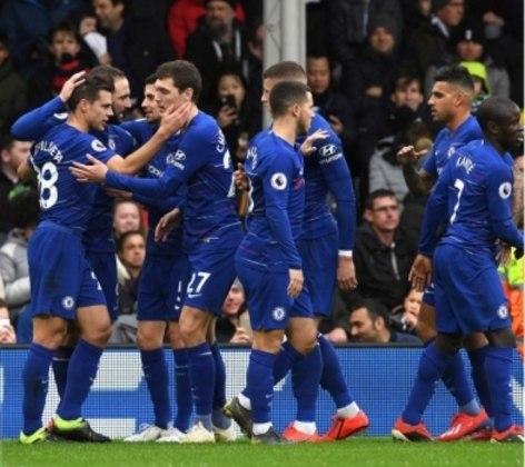 Chelsea comemora o primeiro gol