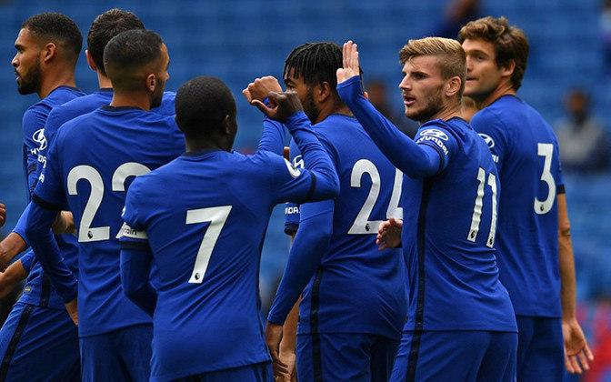 Chelsea - Kepa, James, Thiago Silva, Zouma, Emerson; Kanté, Kovacic, Barkley, Ziyech, Havertz; Timo Werner. Técnico: Frank Lampard.