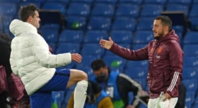 Chelsea x Real Madrid - Azpilicueta e Hazard