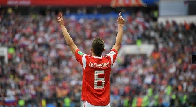 Cheryshev, o melhor da primeira partida