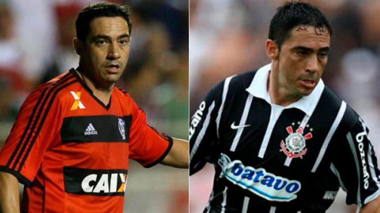 CHICÃO – O zagueiro fez sua carreira no Corinthians, onde conquistou Libertadores, Brasileiro e Mundial. Depois, ajudou o Flamengo na conquista da Copa do Brasil de 2013.