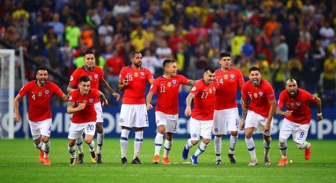 A seleção do Chile que passou às semis de 2019