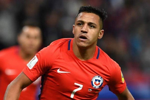 Chile - Alexis Sánchez: 44 gols em 133 jogos