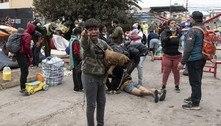 Polícia desaloja venezuelanos em praça do norte do Chile