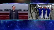 Presidente chinês felicita os astronautas que abrem 'horizontes'