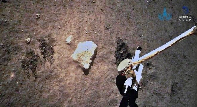 A sonda Chang'e 5 coletou cerca de 2kg de amostras de solo lunar