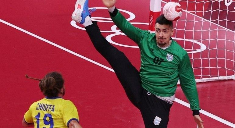 Chiuffa teve boa participação e ajudou o Brasil a vencer a Argentina