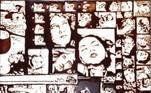 """O quadro """"Chocolate"""", do artista  Vik Muniz, com lance a partir de R$ 60 mil"""