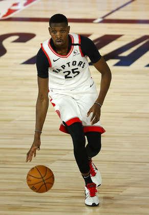 Chris Boucher (Toronto Raptors) 4,0 - Normalmente, Boucher angaria mais minutos em quadra. Contra o Brooklyn Nets, apareceu em apenas três, sem produzir nada além de um rebote