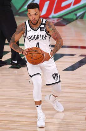 Chris Chiozza (Brooklyn Nets) 4,5 - Valeu pelas quatro assistências em sete minutos, mas Chiozza errou as três tentativas de arremessos
