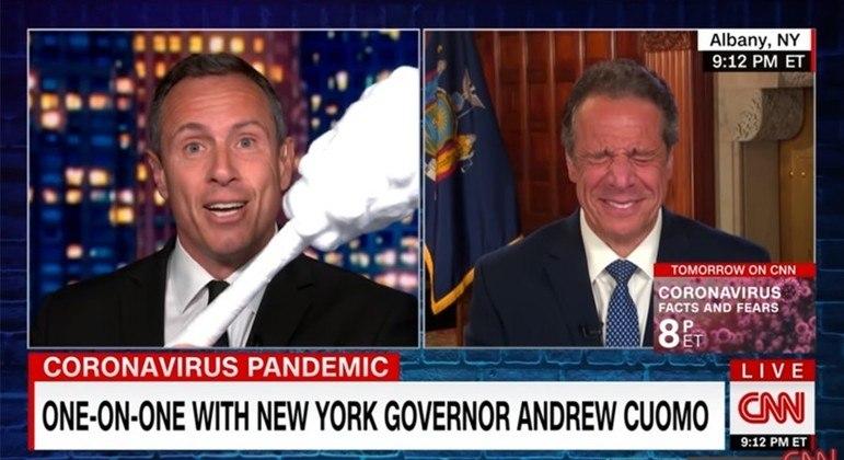 Chris Cuomo entrevistou diversas vezes o governador e irmão, Andrew, na televisão