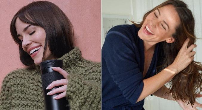 De um lado, Christa B. Allen, de 29 anos, do outro Jennifer Garner, de 48 anos
