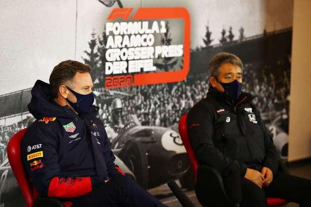 Christian Horner participou de uma coletiva pela primeira vez após o anúncio da Honda de saída da F1