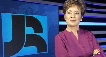 """Christina Lemos, apresentadora do """"Jornal da Record"""""""