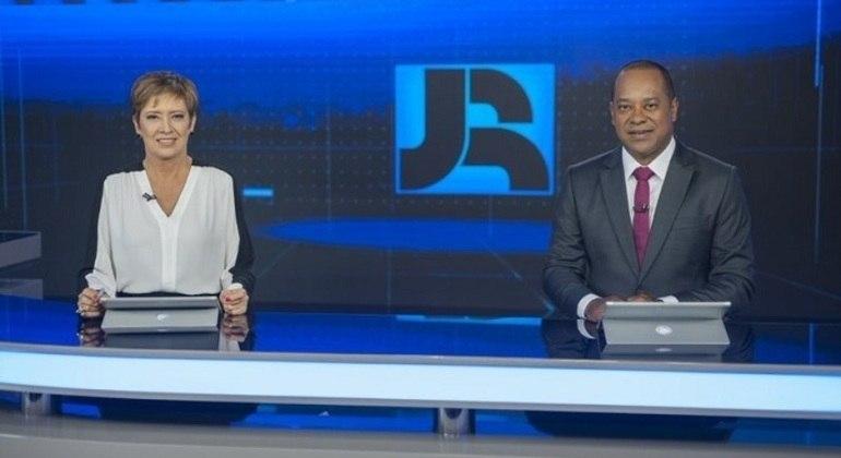 """Christina Lemos e Luiz Fara Monteiro, apresentadores do """"Jornal da Record"""""""