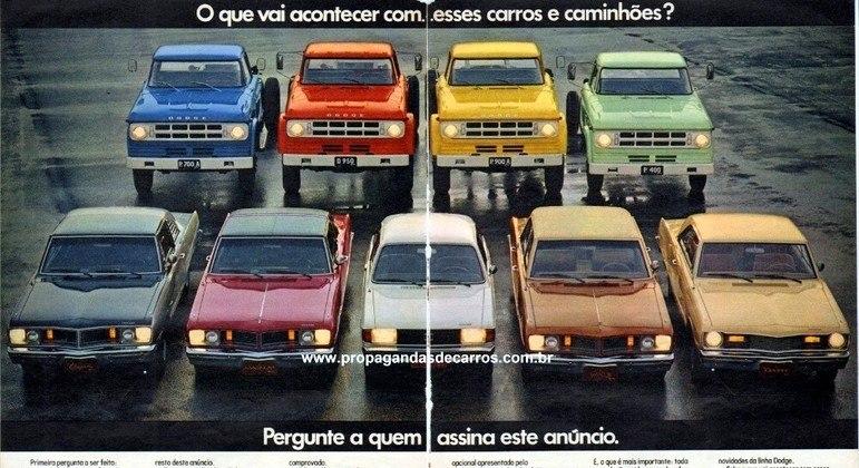 Anúncio de 1980 prometia que a Volkswagen continuaria a fabricar os modelos Chrysler que saíram de linha em 1981
