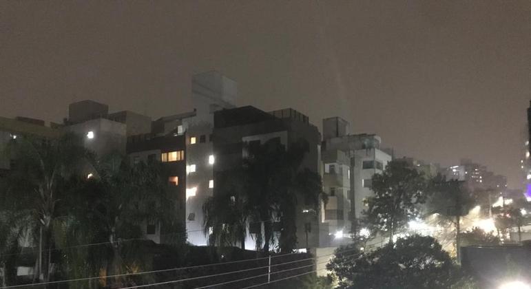 Há relato de chuvas em todas as regiões da cidade