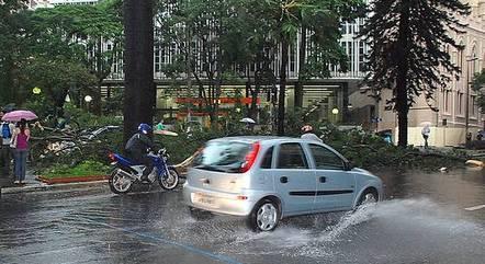 Capital deve ter céu encoberto e chuvas intensas