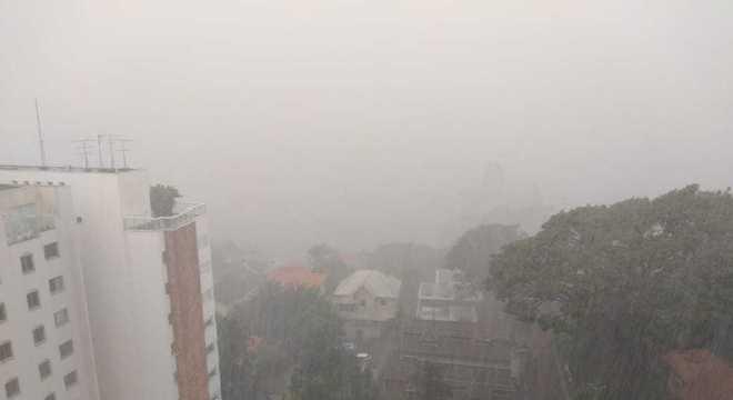 Choveu granizo em Pinheiros