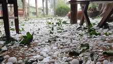 Chuva de granizo surpreende moradores do interior de São Paulo