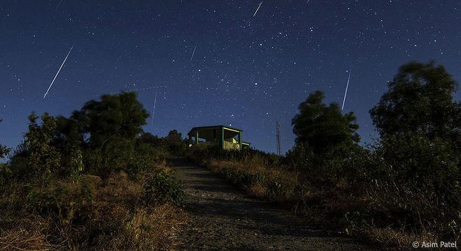 Chuva de meteoros Geminídeas de 2013 vista do Hemisfério Norte