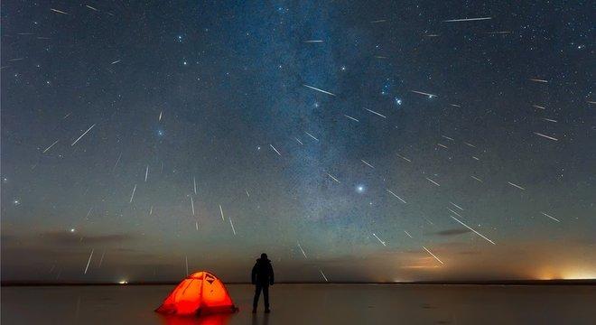O céu precisa estar limpo para ser possível observar a chuva de meteoros