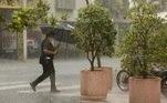 Chuva forte com queda de granizo em SP