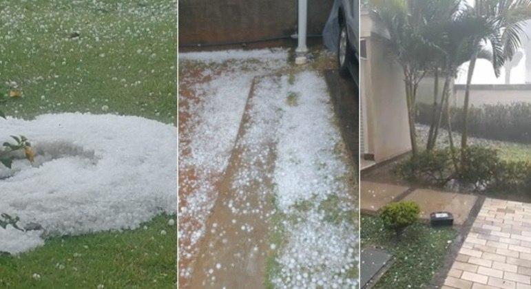 Chuva de granizo atinge bairro de Jundiaí