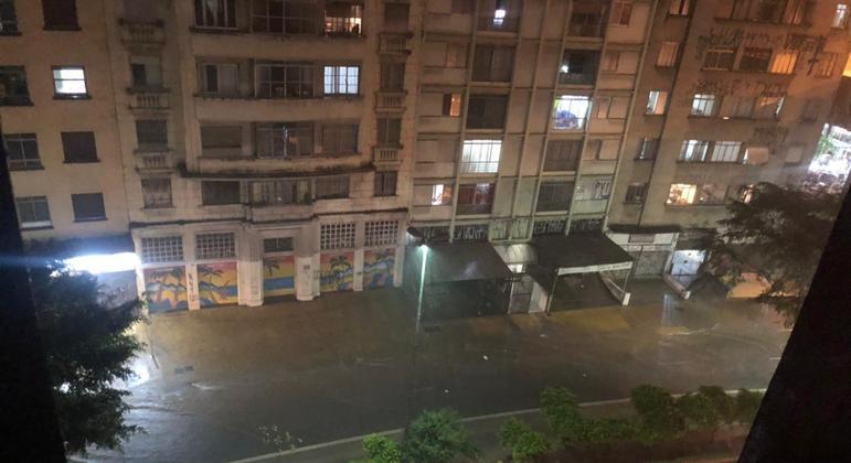 Chuva na região central de São Paulo