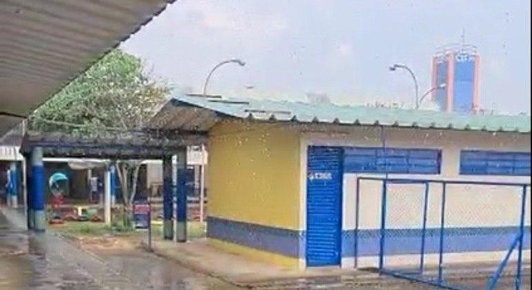 Registro de chuvas no Recanto das Emas nesta sexta-feira (24)