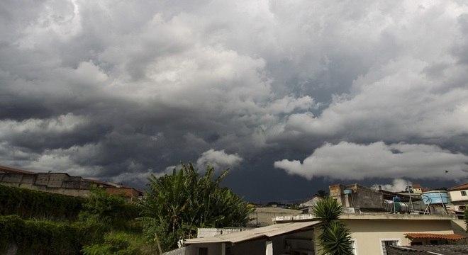 Céu encoberto em São Paulo