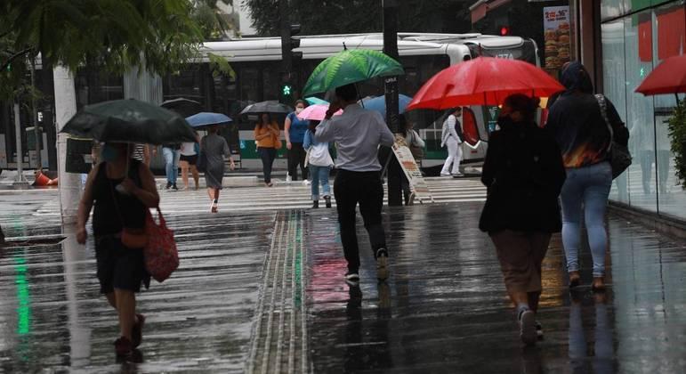 Chuva forte em São Paulo
