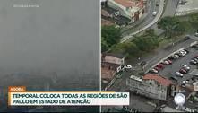 Chuva provoca alagamentos e deixa São Paulo em estado de atenção