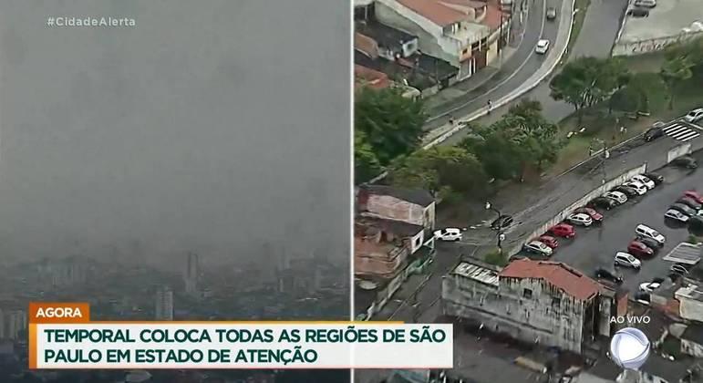 Chuva que atinge a cidade de SP na tarde desta segunda-feira (11) provoca alagamentos