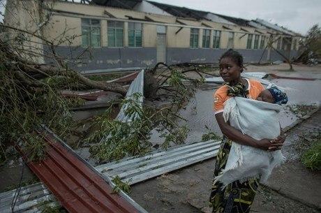 Ciclone deixou destruição em Moçambique