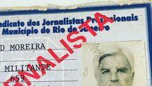 Aos 93 anos, Cid Moreira relembra carteirinha de jornalista