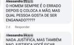 A irmã do agressor saiu em defesa dele nas redes sociais
