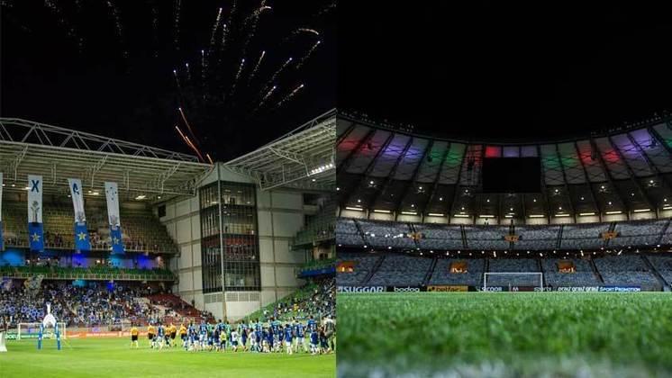 Cidade: Belo Horizonte (MG) - Clubes: Atlético-MG, América-MG e Cruzeiro - O público nos estádios está liberado, com capacidade de até 30% de lotação.