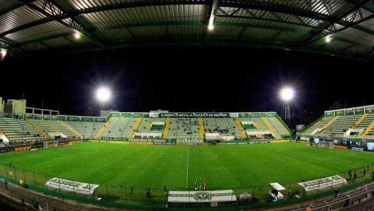 Cidade: Chapecó (SC) - Clube: Chapecoense - O governo de Santa Catarina autorizou a volta do público aos estádios em 15 de setembro.