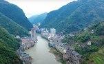 Esta é a cidade deYanjin, conhecida como