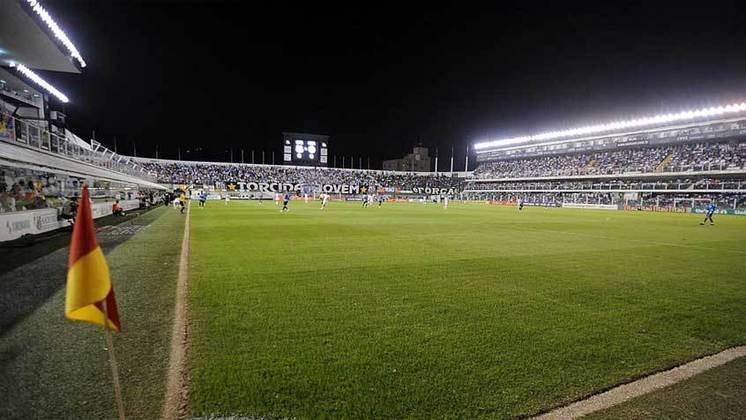 Cidade: Santos (SP) - Clube: Santos - A cidade seguirá o plano estadual, o qual prevê os estádios poderão receber torcida a partir de 1° de novembro.