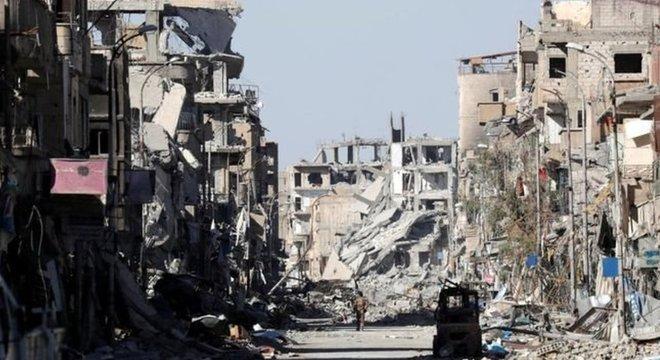 A guerra civil na Síria se estende há 8 anos