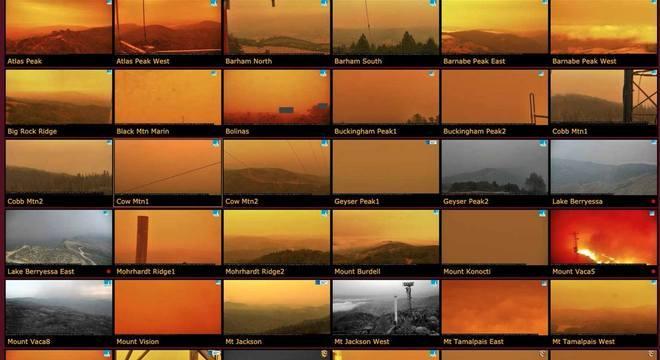 cientistas cameras incendios california ceu laranja