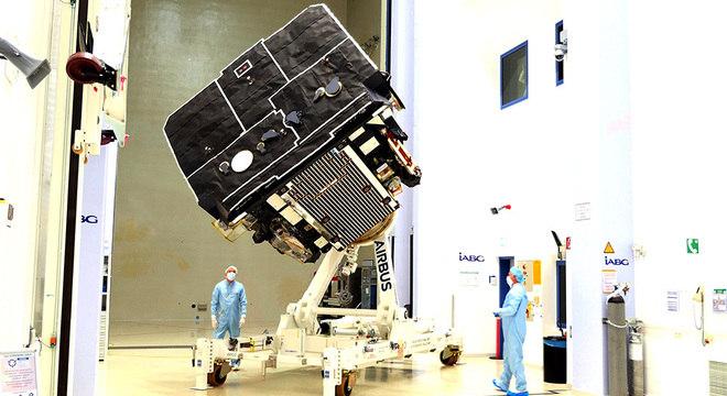 Satélite europeu já concluiu etapa de testes e está pronto para ir à Flórida, de onde será lançado
