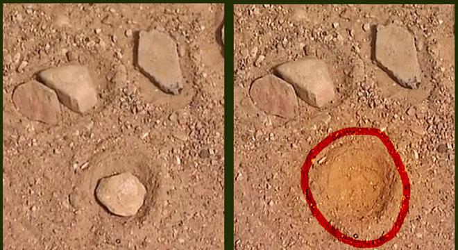 Cálculos feitos no chão deixavam um círculo vazio após subtração